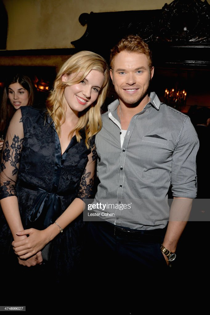 Actors <a gi-track='captionPersonalityLinkClicked' href=/galleries/search?phrase=Kellan+Lutz&family=editorial&specificpeople=683287 ng-click='$event.stopPropagation()'>Kellan Lutz</a> (R) and <a gi-track='captionPersonalityLinkClicked' href=/galleries/search?phrase=Maggie+Grace&family=editorial&specificpeople=213706 ng-click='$event.stopPropagation()'>Maggie Grace</a> attend Vanity Fair and FIAT celebration of 'Young Hollywood' during Vanity Fair Campaign Hollywood at No Vacancy on February 25, 2014 in Los Angeles, California.