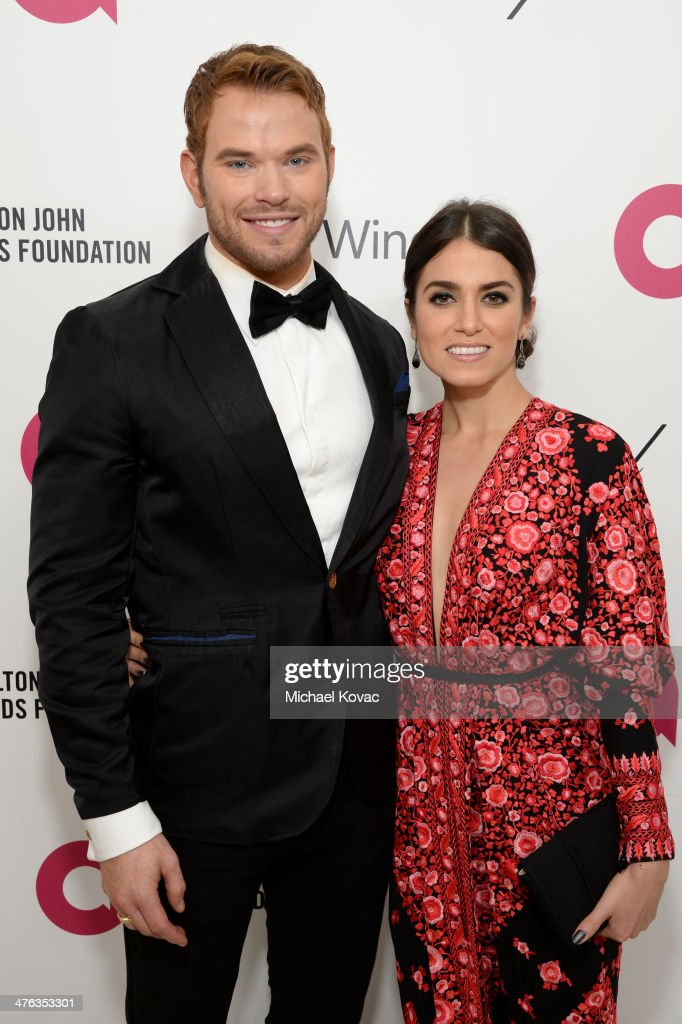 Actors Kellan Lutz and Nikki Reed attend the 22nd Annual Elton John AIDS Foundation Academy Awards Viewing Party at The City of West Hollywood Park on March 2, 2014 in West Hollywood, California.