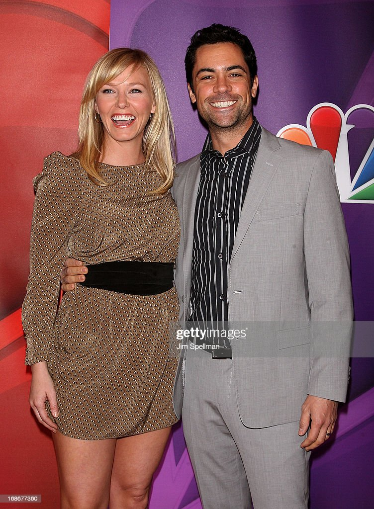 Actors Kelli Giddish and Danny Pino attend 2013 NBC Upfront Presentation Red Carpet Event at Radio City Music Hall on May 13, 2013 in New York City.