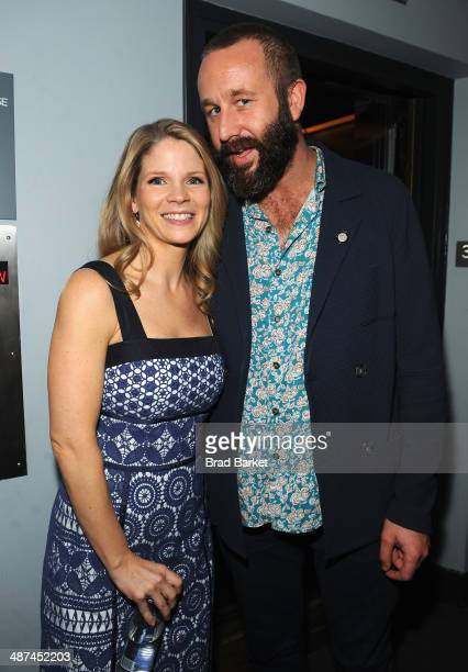 Actors Kelli O'Hara and Chris O'Dowd attend the 2014 Tony Awards Meet The Nominees Press Reception at the Paramount Hotel on April 30 2014 in New...