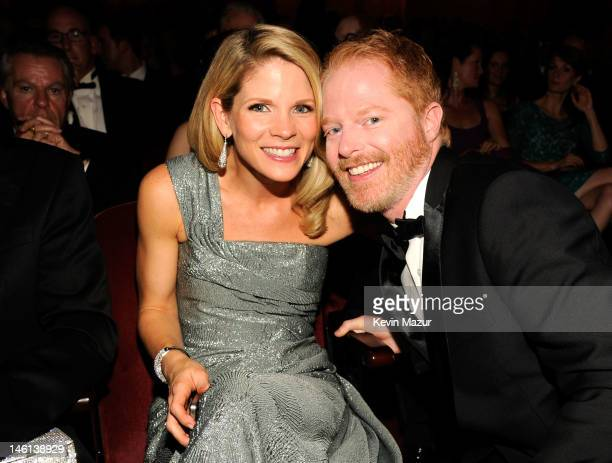 Actors Kelli O'Hara and Jesse Tyler Ferguson attend the 66th Annual Tony Awards at The Beacon Theatre on June 10 2012 in New York City