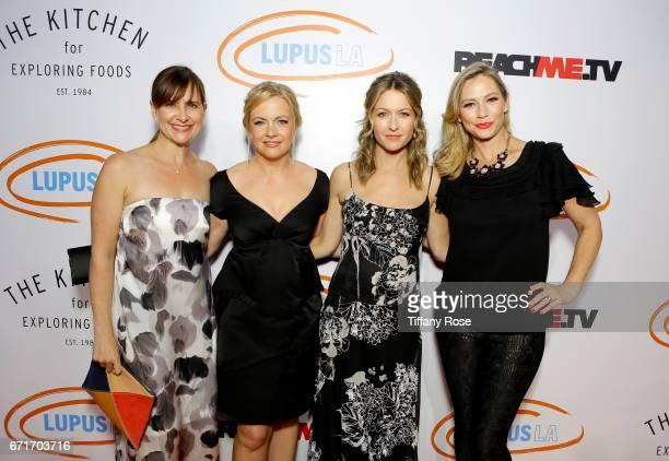 Actors Kellie Martin Melissa Joan Hart Ali Hillis and Meredith Monroe attend Lupus LA's Orange Ball Rocket to a Cure at the California Science Center...