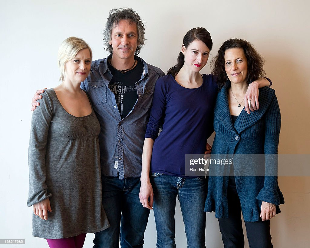 Actors Kellie Overbey, Quentin Mare, Renata Friedman and Playwright Kara Manning attend the 'Sleeping Rough' Cast Photo Call at Playwrights Horizon's North Rehearsal Studio on March 11, 2013 in New York City.