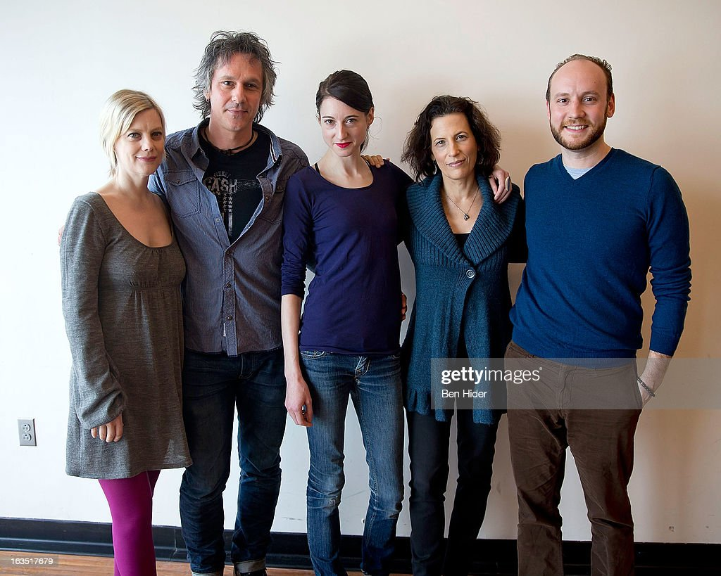 Actors Kellie Overbey, Quentin Mare, Renata Friedman, Playwright Kara Manning and Associate Director Michael Walkup attend the 'Sleeping Rough' Cast Photo Call at Playwrights Horizon's North Rehearsal Studio on March 11, 2013 in New York City.
