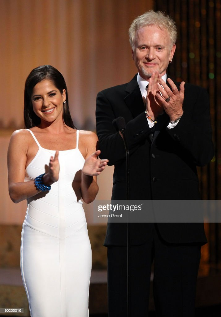 Actors Kelly Monaco and Anthony Geary onstage at the 36th Annual Daytime Emmy Awards at The Orpheum Theatre on August 30, 2009 in Los Angeles, California.