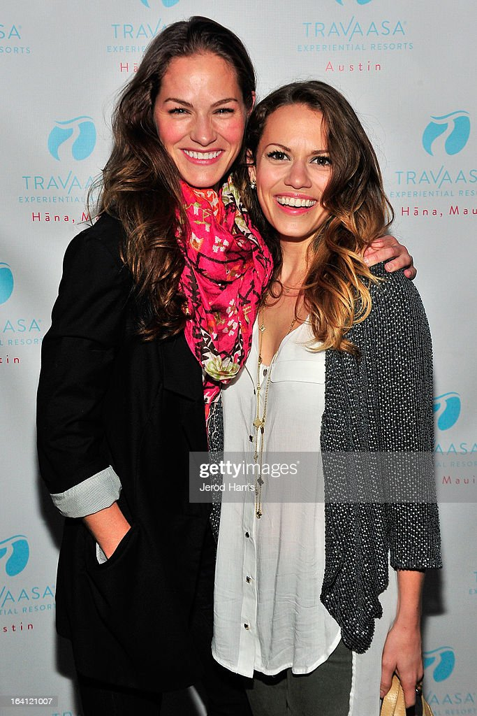 Actors Kelly Overton and Bethany Joy Lenz attend Travaasa Resorts official LA experience event at Kinara Spa on March 19, 2013 in Los Angeles, California.