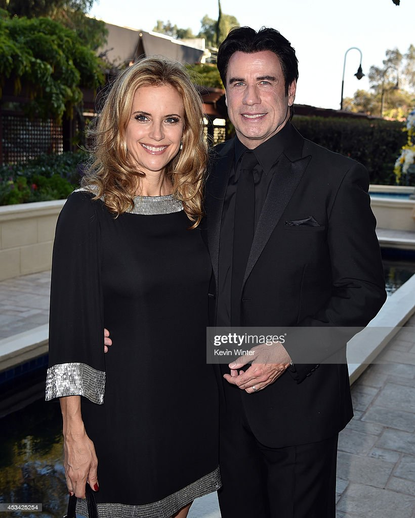 Actors <a gi-track='captionPersonalityLinkClicked' href=/galleries/search?phrase=Kelly+Preston&family=editorial&specificpeople=159434 ng-click='$event.stopPropagation()'>Kelly Preston</a> (L) and <a gi-track='captionPersonalityLinkClicked' href=/galleries/search?phrase=John+Travolta&family=editorial&specificpeople=178204 ng-click='$event.stopPropagation()'>John Travolta</a> attend the Church of Scientology Celebrity Centre 45th Anniversary Gala on August 9, 2014 in Los Angeles, California.