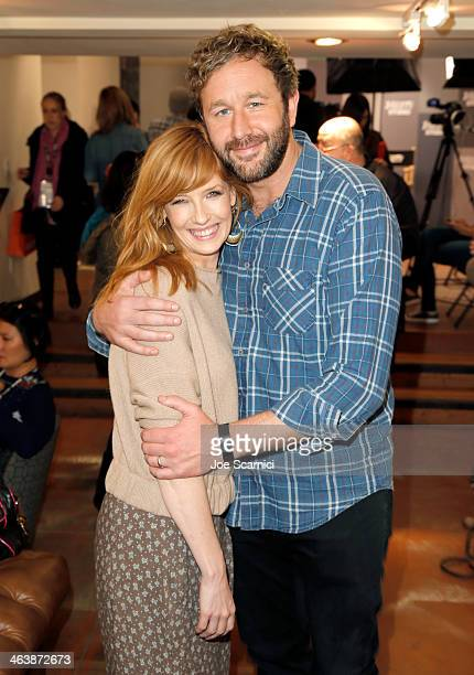 Actors Kelly Reilly and Chris O'Dowd attend The Variety Studio Sundance Edition Presented By Dawn Levy on January 19 2014 in Park City Utah