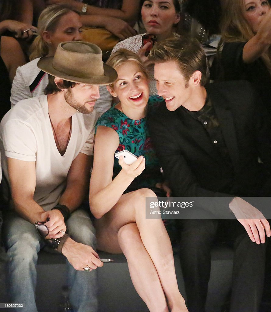 Actors <a gi-track='captionPersonalityLinkClicked' href=/galleries/search?phrase=Kelly+Rutherford&family=editorial&specificpeople=217987 ng-click='$event.stopPropagation()'>Kelly Rutherford</a> (C) and <a gi-track='captionPersonalityLinkClicked' href=/galleries/search?phrase=Gabriel+Mann&family=editorial&specificpeople=228956 ng-click='$event.stopPropagation()'>Gabriel Mann</a> (R) sit front row with TRESemme at the Nanette Lepore fashion show during Mercedes-Benz Fashion Week Spring 2014 at The Stage at Lincoln Center on September 11, 2013 in New York City.