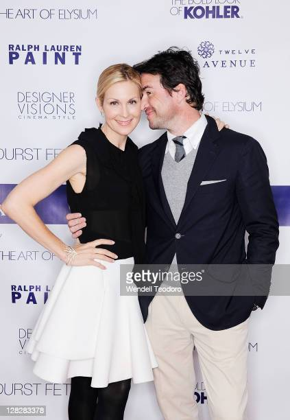 Actors Kelly Rutherford and Matthew Settle attend the celebration of Designer Vision Cinema Style at 1212 Fifth Avenue on October 5 2011 in New York...