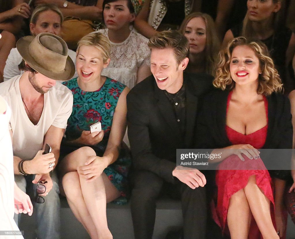Actors <a gi-track='captionPersonalityLinkClicked' href=/galleries/search?phrase=Kelly+Rutherford&family=editorial&specificpeople=217987 ng-click='$event.stopPropagation()'>Kelly Rutherford</a>, <a gi-track='captionPersonalityLinkClicked' href=/galleries/search?phrase=Gabriel+Mann&family=editorial&specificpeople=228956 ng-click='$event.stopPropagation()'>Gabriel Mann</a> and <a gi-track='captionPersonalityLinkClicked' href=/galleries/search?phrase=Margarita+Levieva&family=editorial&specificpeople=630349 ng-click='$event.stopPropagation()'>Margarita Levieva</a> sit front row with TRESemme at the Nanette Lepore fashion show during Mercedes-Benz Fashion Week Spring 2014 at The Stage at Lincoln Center on September 11, 2013 in New York City.