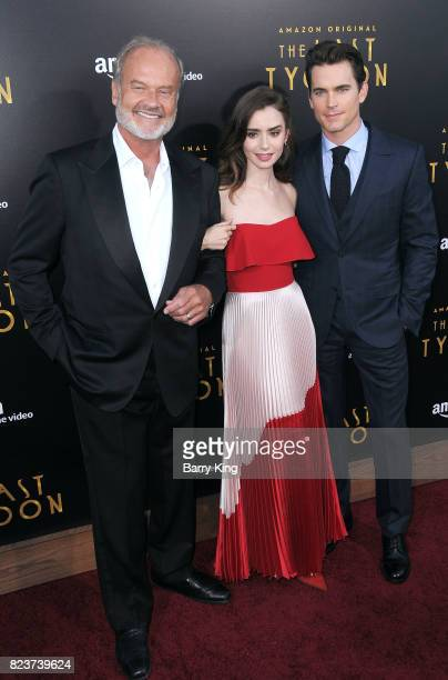 Actors Kelsey Grammer actress Lily Collins and Matt Bomer attend the premiere of Amazon Studios' 'The Last Tycoon' at the Harmony Gold Preview House...