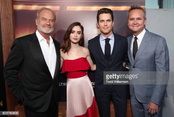 Actors Kelsey Grammer Lily Collins Matt Bomer and Head of Amazon Studios Roy Price at the Amazon Prime Video premiere of the original drama series...