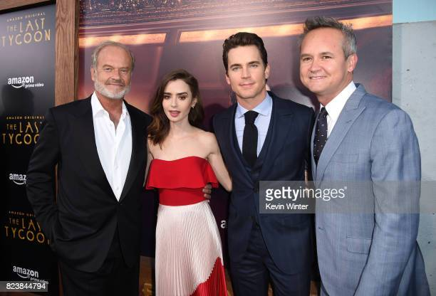 Actors Kelsey Grammer Lily Collins Matt Bomer and Roy Price Head of Amazon Studios arrive at the premiere of Amazon Studios' 'The Last Tycoon' at the...