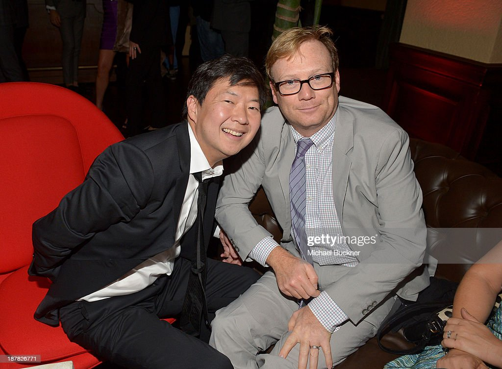 Actors <a gi-track='captionPersonalityLinkClicked' href=/galleries/search?phrase=Ken+Jeong&family=editorial&specificpeople=4195975 ng-click='$event.stopPropagation()'>Ken Jeong</a> and Andrew Daly attend the GQ Men Of The Year Party at The Ebell Club of Los Angeles on November 12, 2013 in Los Angeles, California.