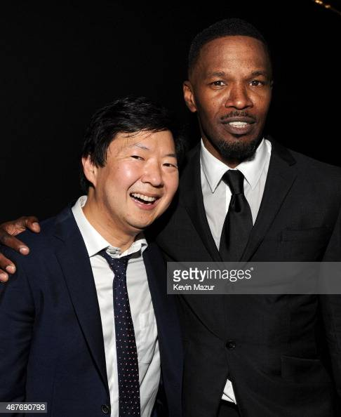 Actors Ken Jeong and Jamie Foxx attend Hollywood Stands Up To Cancer Event with contributors American Cancer Society and Bristol Myers Squibb hosted...