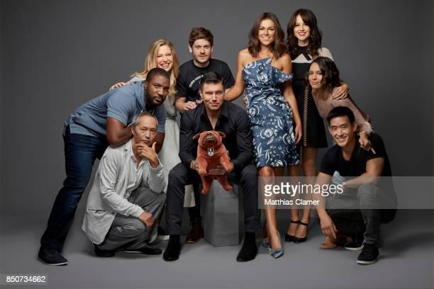 Actors Ken Leung Eme Ikwuakor Ellen Woglom Iwan Rheon Anson Mount Serinda Swan Isabelle Cornish Sonya Balmores and Mike Moh from Marvel's Inhumans...