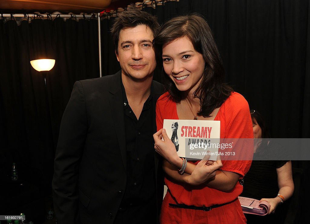 Actors <a gi-track='captionPersonalityLinkClicked' href=/galleries/search?phrase=Ken+Marino&family=editorial&specificpeople=2979469 ng-click='$event.stopPropagation()'>Ken Marino</a> and Erica Oyama attend the 3rd Annual Streamy Awards at Hollywood Palladium on February 17, 2013 in Hollywood, California.