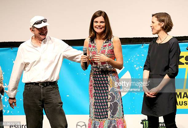 Actors Ken Strunk and Betsy Brandt and writer/director Lisa Robinson attend the premiere of 'Claire in Motion' during the 2016 SXSW Music Film...