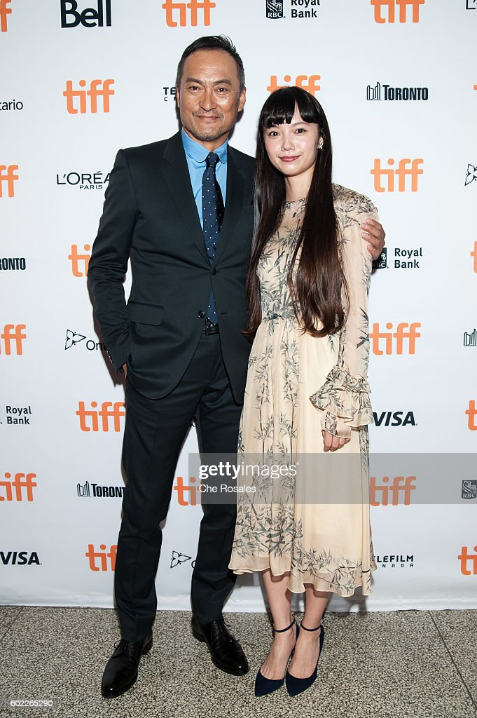 Actors Ken Watanabe and Aoi Miyazaki attend the premiere of 'Rage' during the 2016 Toronto International Film Festival at The Elgin on September 10, 2016 in Toronto, Canada.