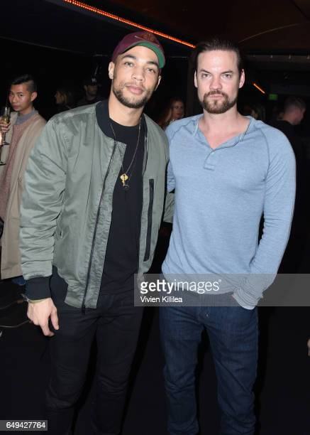 Actors Kendrick Sampson and Shane West attend a private event hosted by Hudson at Hyde Staples Center for a Red Hot Chili Peppers concert on March 7...