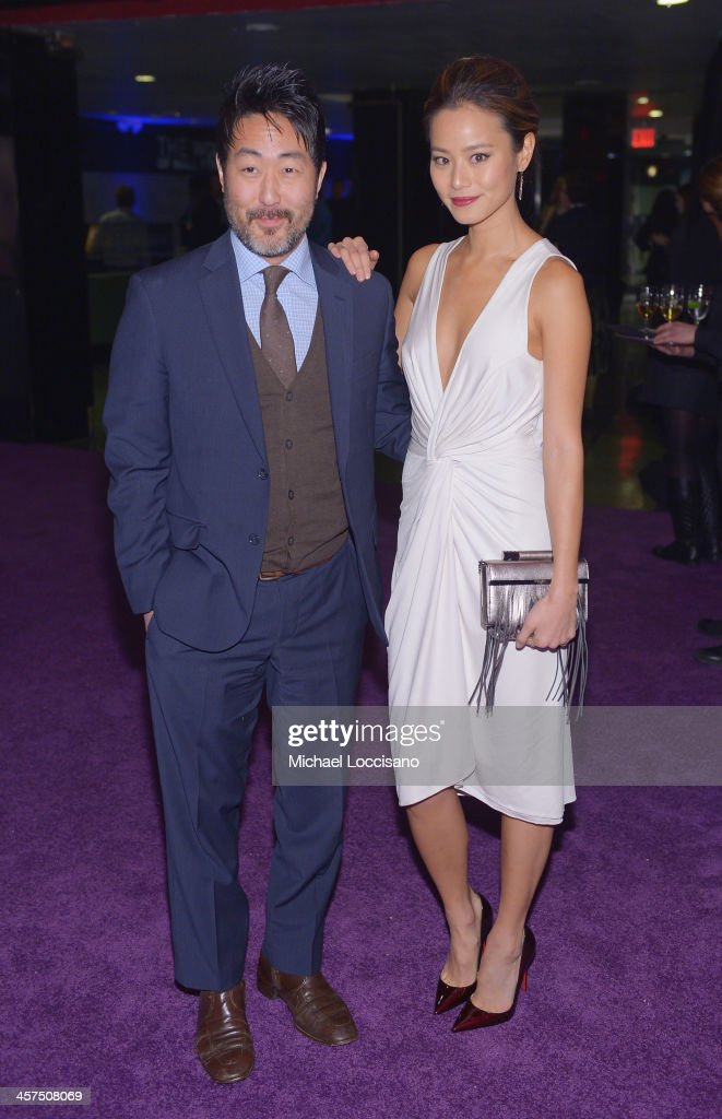 Actors Kenneth Choi and Jamie Chung attend the 'The Wolf Of Wall Street' premiere after party at Roseland Ballroom on December 17, 2013 in New York City.