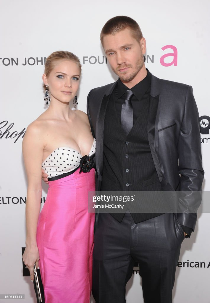 Actors Kenzie Dalton and Chad Michael Murray attend the 21st Annual Elton John AIDS Foundation Academy Awards Viewing Party at West Hollywood Park on February 24, 2013 in West Hollywood, California.