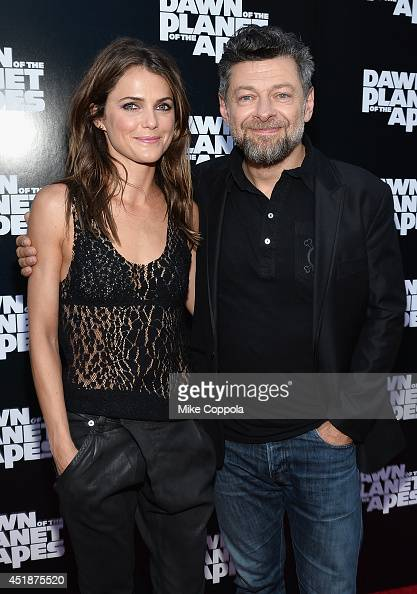 Actors Keri Russell and Andy Serkis attend the 'Dawn Of The Planets Of The Apes' premiere at Williamsburg Cinemas on July 8 2014 in New York City
