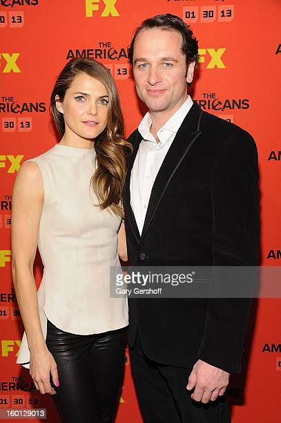 Actors Keri Russell and Matthew Rhys attend FX's 'The Americans' Season One New York Premiere at DGA Theater on January 26 2013 in New York City