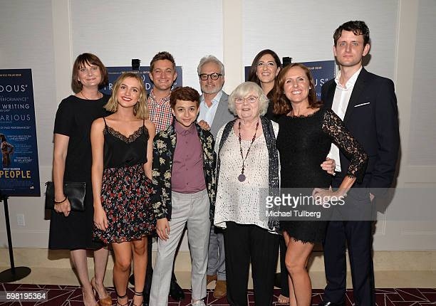 Actors Kerri Kenney and Maude Apatow writer/director Chris Kelly and actors JJ Totah Bradley Whitford June Squibb D'Arcy Carden Molly Shannon and...