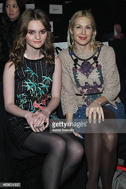 Actors Kerris Dorsey and Kelly Rutherford attend the Vivienne Tam fashion show during MercedesBenz Fashion Week Fall 2015 at The Theatre at Lincoln...