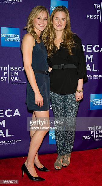 Actors Kerry Bishe and Grace Gummer attend the 'Meskada' premiere at the 9th Annual Tribeca Film Festival at Village East Cinema on April 22 2010 in...