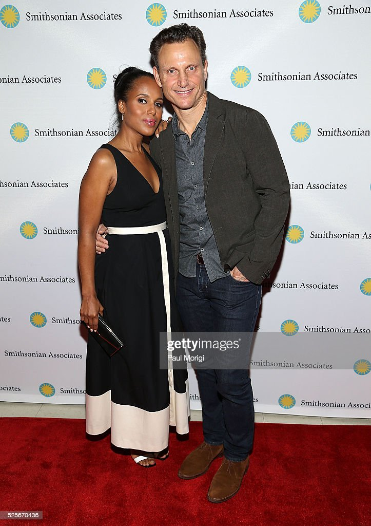Actors Kerry Washington and Tony Goldwyn attend the Smithsonian Associates's 'Scandal-ous!' discussion with the cast and executive producers of ABC's 'Scandal' at the University of District of Columbia Theater of the Arts on April 28, 2016 in Washington, DC.