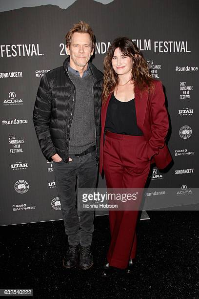 Actors Kevin Bacon and Kathryn Hahn attend the 'I Love Dick' Premiere at The Marc Theatre on January 23 2017 in Park City Utah
