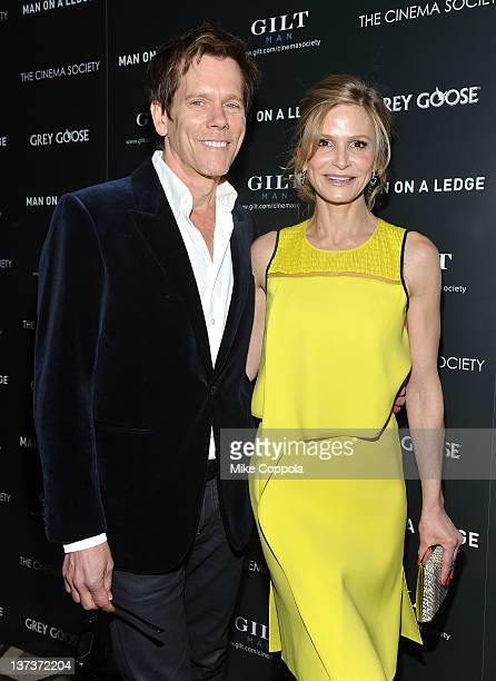 Actors Kevin Bacon and Kyra Sedgwick attends The Cinema Society Gilt Man with Grey Goose screening of 'Man on a Ledge' at the Tribeca Grand Hotel on...