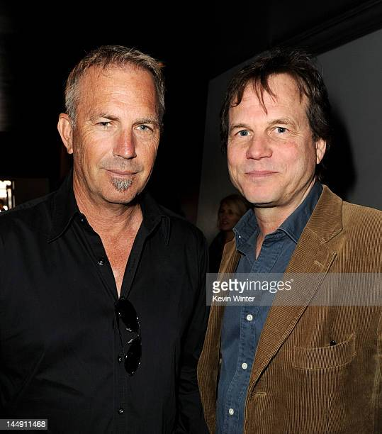 Actors Kevin Costner and Bill Paxton arrive at a screening of The History Channel's 'Hatfields McCoys' at the Aero Theater on May 20 2012 in Santa...