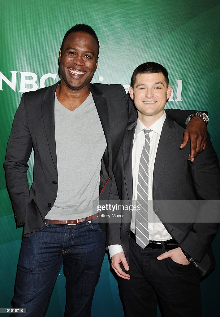 Actors Kevin Daniels (L) and Kevin Bigley attend the NBCUniversal 2015 Press Tour at the Langham Huntington Hotel on January 15, 2015 in Pasadena, California.