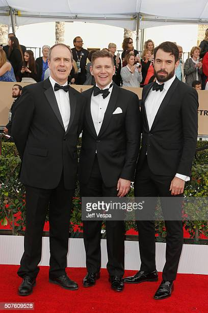 Actors Kevin Doyle Allen Leech and Tom Cullen attend the 22nd Annual Screen Actors Guild Awards at The Shrine Auditorium on January 30 2016 in Los...