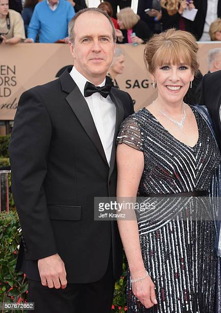 Actors Kevin Doyle and Phyllis Logan attend the 22nd Annual Screen Actors Guild Awards at The Shrine Auditorium on January 30 2016 in Los Angeles...