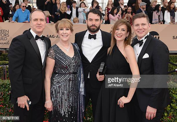 Actors Kevin Doyle Phyllis Logan Tom Cullen Raquel Cassidy and Allen Leech attend the 22nd Annual Screen Actors Guild Awards at The Shrine Auditorium...