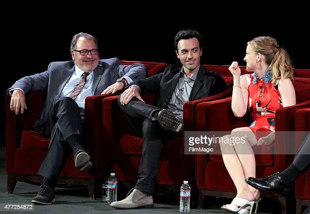 Actors Kevin Dunn Reid Scott and Anna Chlumsky attend HBO's 'Veep' FYC Panel at Paramount Theater on the Paramount Studios lot on June 10 2015 in...