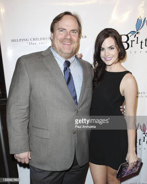 Actors Kevin Farley and Jillian Murray arrive at the Britticares International Foundation's Golden Globe Awards Post Celebration at The Green Door on...