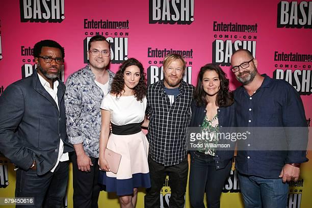 Actors Kevin Hanchard Kristian Bruun Kathryn Alexandre director John Fawcett actress Tatiana Maslany and writer Graeme Manson attend Entertainment...
