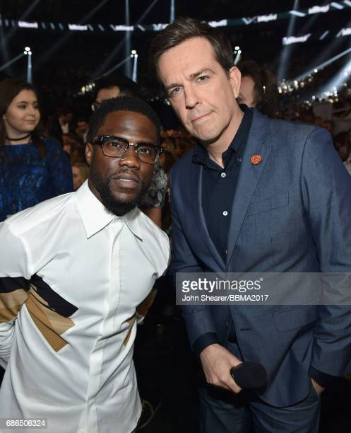 Actors Kevin Hart and Ed Helms attend the 2017 Billboard Music Awards at TMobile Arena on May 21 2017 in Las Vegas Nevada