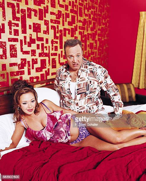 Actors Kevin James and Leah Remini are photographed for Entertainment Weekly Magazine in 2001 in Los Angeles California