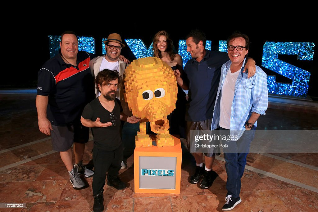 Actors Kevin James, Peter Dinklage, Josh Gad, Michelle Monaghan, Adam Sandler, and director Chris Columbus attend the 'Pixels' photo call during Summer Of Sony Pictures Entertainment 2015 at The Ritz-Carlton Cancun on June 15, 2015 in Cancun, Mexico. #SummerOfSonyPictures #PixelsMovie