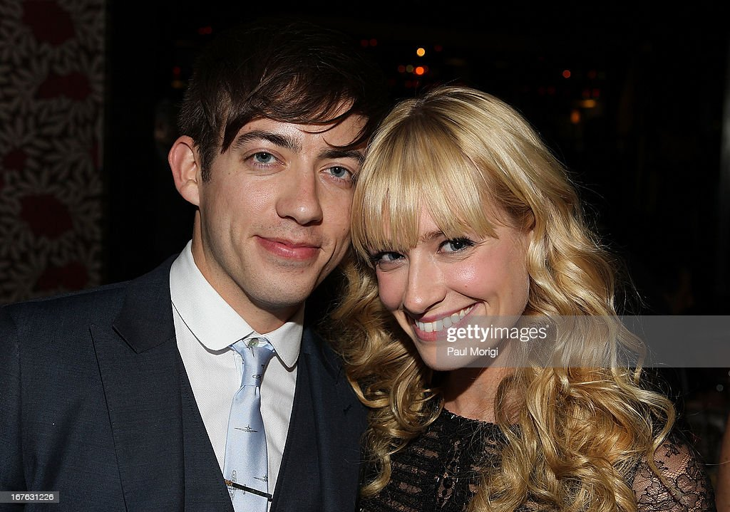 Actors Kevin McHale (L) and <a gi-track='captionPersonalityLinkClicked' href=/galleries/search?phrase=Beth+Behrs&family=editorial&specificpeople=6556378 ng-click='$event.stopPropagation()'>Beth Behrs</a> attend The Creative Coalition's and Lanmark Technology Inc.'s celebration of the Arts in America at Neyla on April 26, 2013 in Washington, DC.