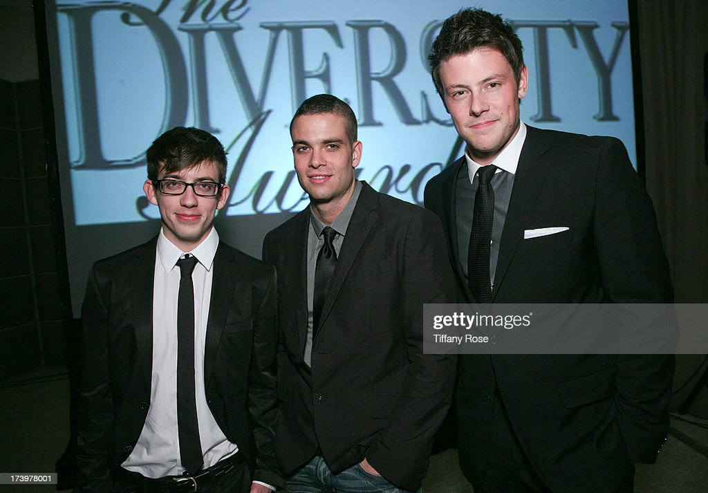 Actors Kevin McHale, <a gi-track='captionPersonalityLinkClicked' href=/galleries/search?phrase=Mark+Salling&family=editorial&specificpeople=5745691 ng-click='$event.stopPropagation()'>Mark Salling</a> and <a gi-track='captionPersonalityLinkClicked' href=/galleries/search?phrase=Cory+Monteith&family=editorial&specificpeople=4491048 ng-click='$event.stopPropagation()'>Cory Monteith</a> attend the 17th Annual Diversity Awards Gala on November 11, 2009 at Luxe Hotel in Los Angeles, California.