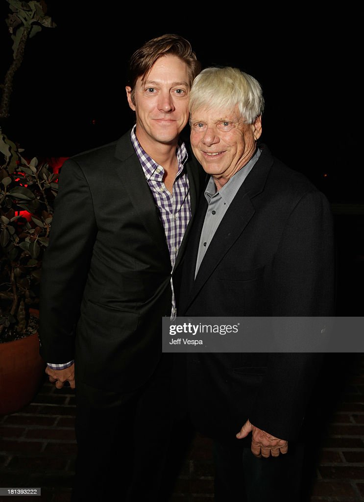 Actors Kevin Rahm and Robert Morse attend Vanity Fair and Maybelline toast to 'Mad Men' at Chateau Marmont on September 20, 2013 in Los Angeles, California.