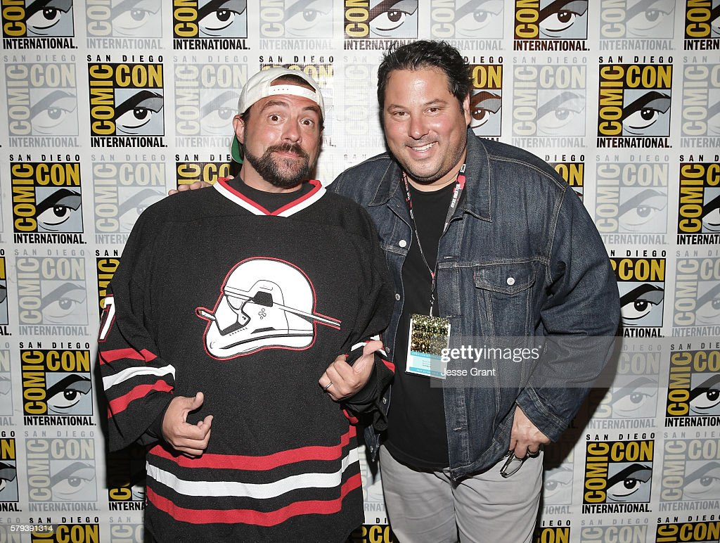 Actors Kevin Smith and Greg Grunberg attend the Kevin Smith panel during ComicCon International 2016 at San Diego Convention Center on July 23 2016...